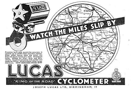Lucas Cyclometer. Mileometer