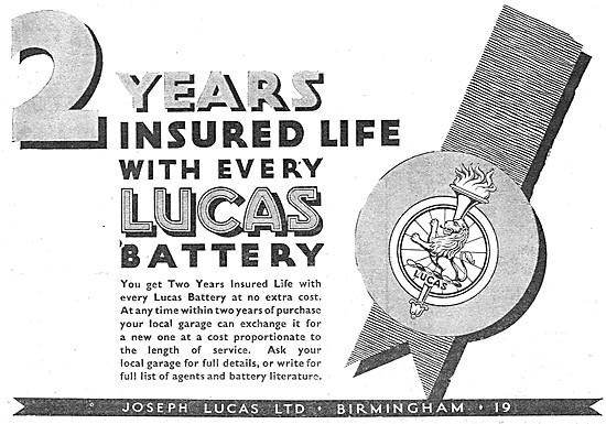 Lucas Car Batteries 1939