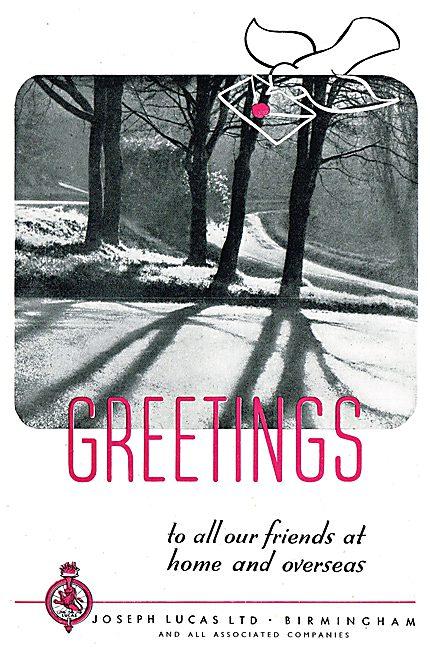 Joseph Lucas Ltd - Christmas Greetings 1943