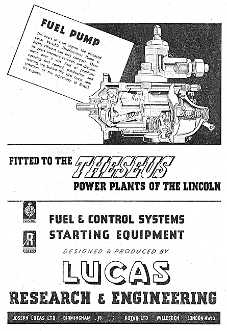 Lucas Fuel System Components For Gas Turbine Engines