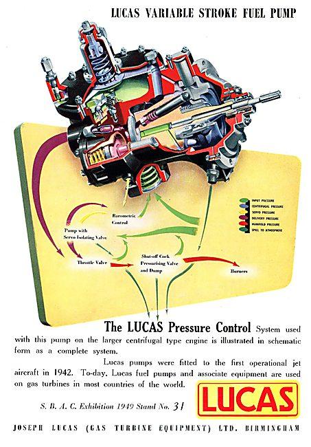 Lucas Pressure Control Pump For Centrifugal Gas Turbine Engines