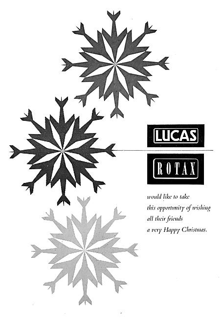 Lucas-Rotax Christmas Greetings 1959