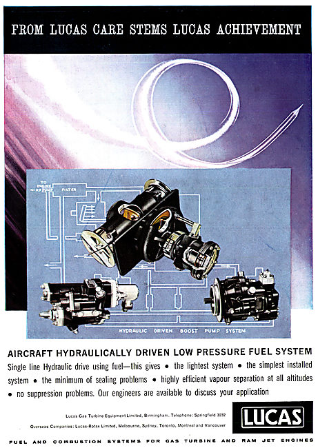Lucas Hydraulically Driven Low Pressure System
