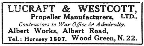 Lucraft & Westcott. Propeller Manufacturers