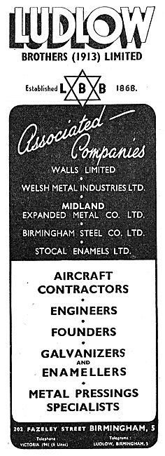Ludlow Brothers. Aeronatical Engineering & Metals