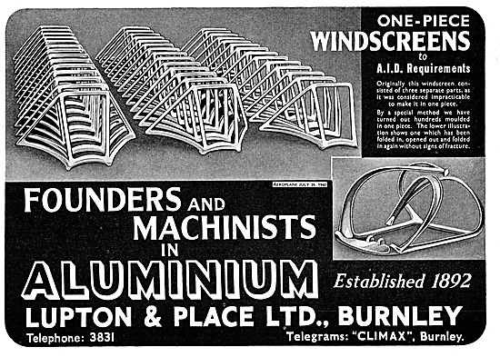 Lupton And Place Aluminium Founders And Machinists