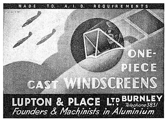 Lupton And Place One Piece Cast Aircraft Windscreens