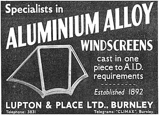 Lupton & Place - Aluminium Alloy Cast Windscreens
