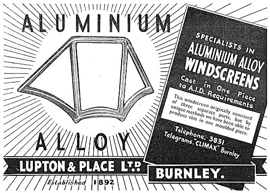 Lupton & Place - Aluminium Alloy Cast Windscreens