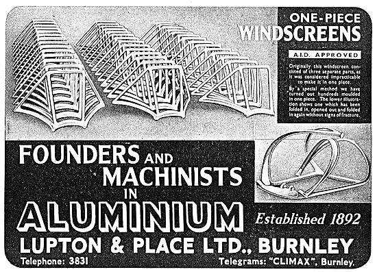 Lupton & Place - Founders & Machinists - Burnley