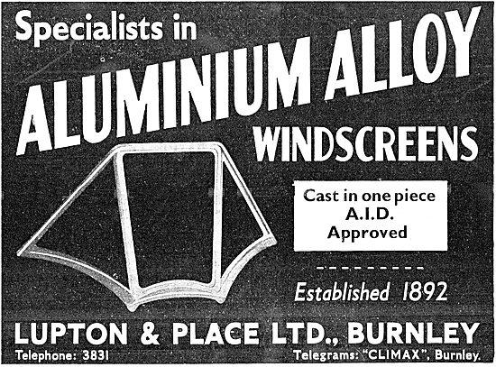 Lupton & Place Aluminium Alloy Windscreens