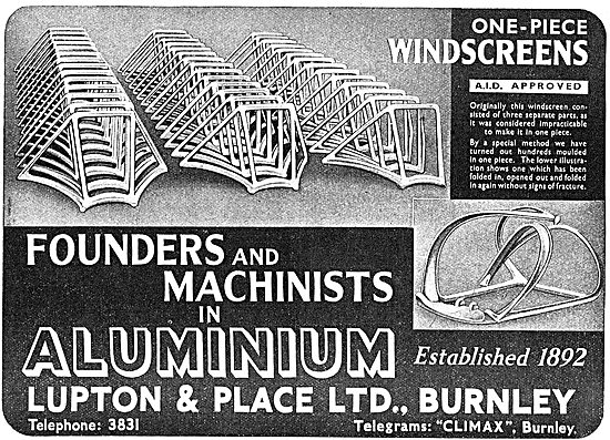 Lupton & Place Founders & Machinists In Aluminium
