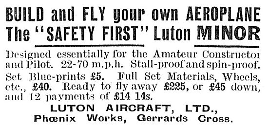 Luton Aircraft : Luton Minor