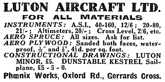 Luton Aircraft Ltd - Phoenix Works, Oxford Rd, Gerards Cross