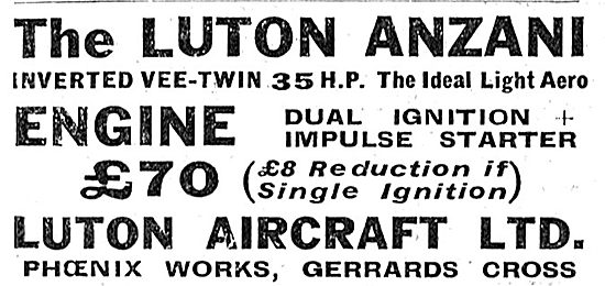 Luton Anzani V-Twin 35 HP Aero Engine