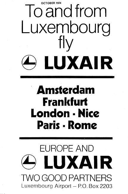 To And From Luxembourg With Luxair