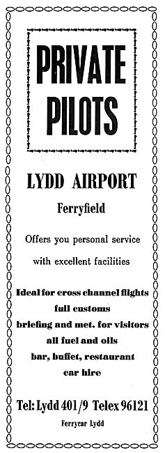 Lydd Airport Ferryfield Facilities & Services