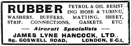 James Lyne Hancock Ltd. Rubber Components. 1919