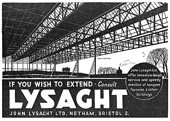 John Lysaght Ltd Aircraft Hangars