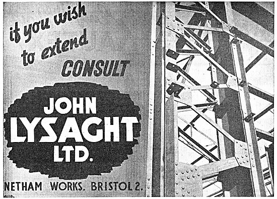 Lysaght Constructional Steelwork For The Aircraft Industry