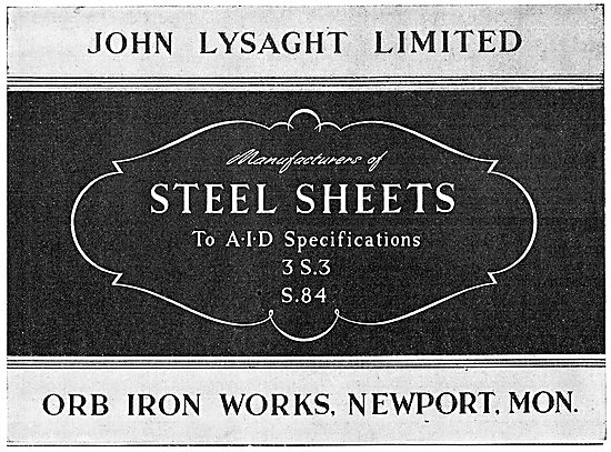 Lysaght Constructional Steelwork. Steel Sheets 3S3 S.84
