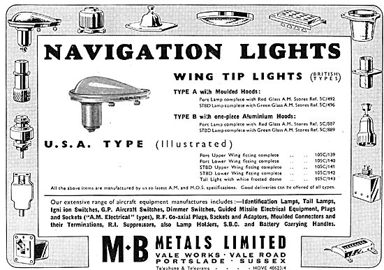 M.B.Metals - Navigation Lights