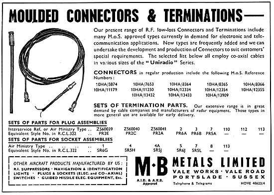 M.B.Metals - Electrical Wiring Components And Sundries