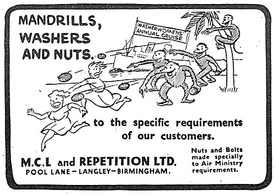 MCL And Repetition - Mandrills, Washers & Nuts
