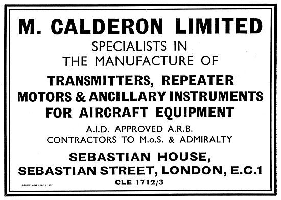M.Calderon Ltd Manufacturers Of Transmitters For Aircraft