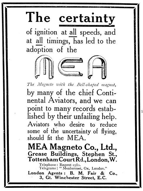 MEA Magnetos 1913
