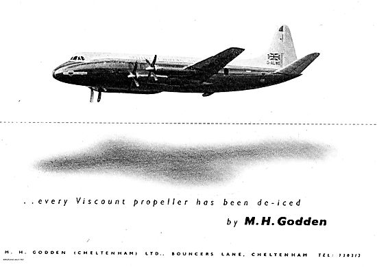 M.H.Godden Deicing Equipment For Vickers Viscount Propellers