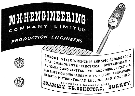 M.H.H. Engineering. Production Engineers
