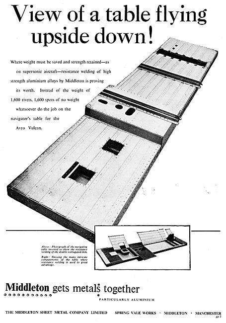 MIddlteon Sheet Metal Co Ltd. Aircraft Component Manufacturers