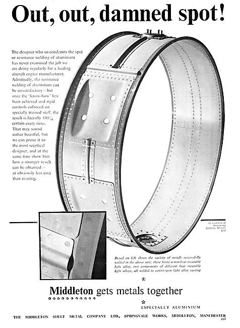 MIddleton Sheet Metal Co Ltd. Aircraft Component Manufacturers
