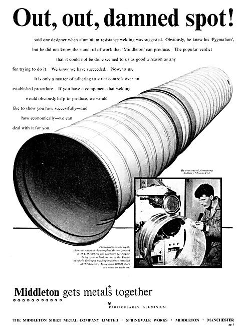 MIddlteon Sheet Metal. Aircraft Component Manufacturers