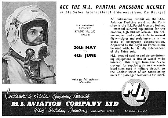 M.L. Aviation - Partial Pressure Flying Helmets For Aircrew
