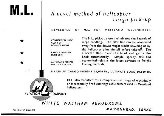 M.L.Aviation Helicopter Cargo  Pick Up System