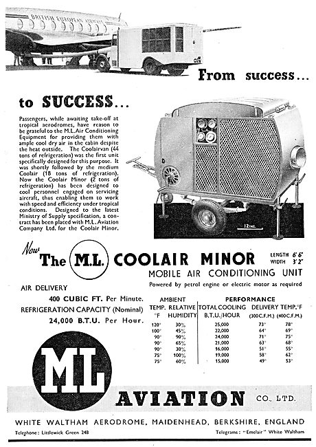 M.L.Aviation ML Coolair Mobile Air Conditioning Unit