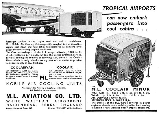 M.L.Aviation ML Coolair Minor Mobile Air Conditioning Unit