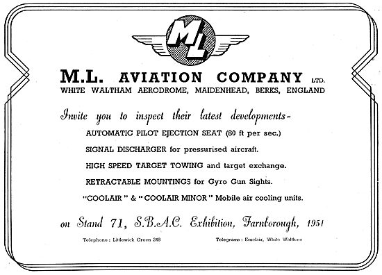 M.L.Aviation ML  - Manufacturers Of Aircraft Components