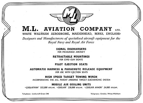 M.L.Aviation ML  - Designers & Manufacturers Of Specialised Eqpt