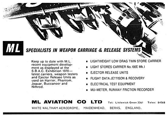 M.L.Aviation ML Aircraft Weapon Loading & Release Equipment