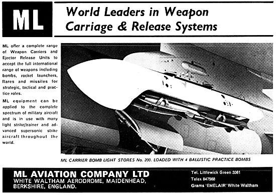 M.L.Aviation ML Weapon Carriage & Release Systems