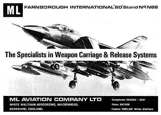 M.L.Aviation ML Weapons Carriage & Release Systems