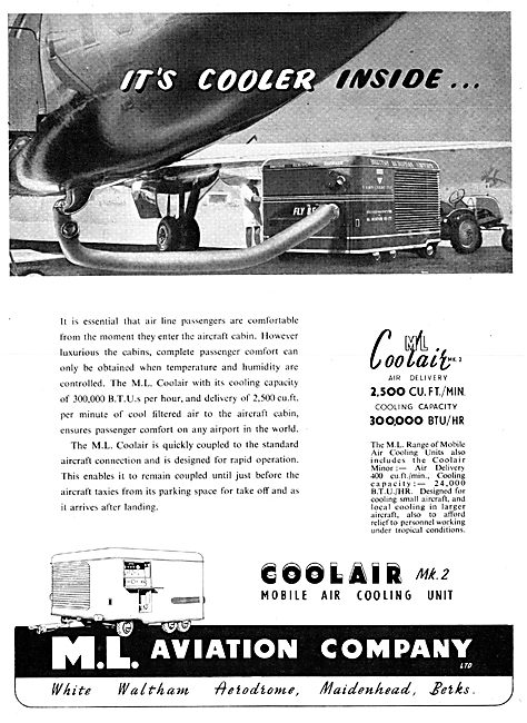 M.L. Aviation Aircraft Air Cooling Units - Coolair MK2