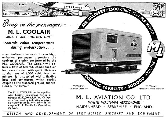 M.L. Aviation Coolair Mobile Air Cooling Unit