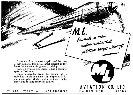 M.L. Aviation Pilotless Target  Aircraft