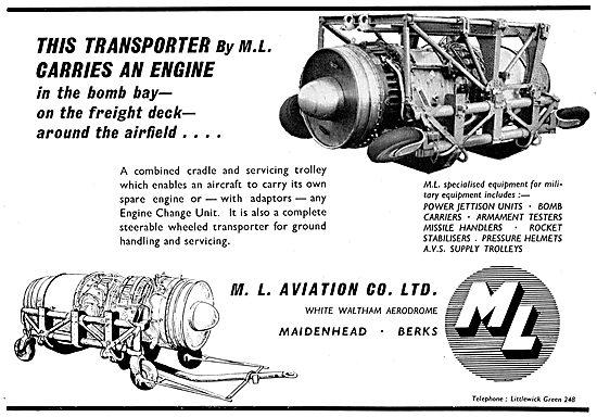 M.L Aviation Aero Engine Cardle & Servicing Trolley