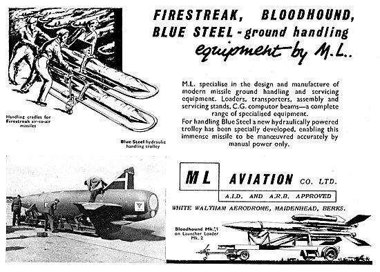 M.L. Aviation Firestreak, Bloodhound & Blue Steel Ground Handling