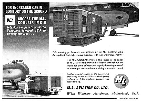 M.L. Aviation ML Coolair Mk 6 Aircraft Ground Conditioning Unit